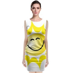 The Sun A Smile The Rays Yellow Classic Sleeveless Midi Dress