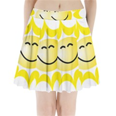 The Sun A Smile The Rays Yellow Pleated Mini Skirt