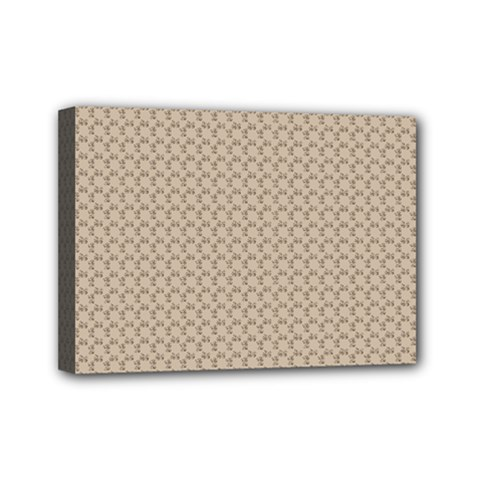 Pattern Ornament Brown Background Mini Canvas 7  X 5