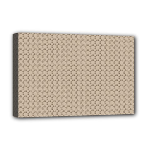 Pattern Ornament Brown Background Deluxe Canvas 18  x 12