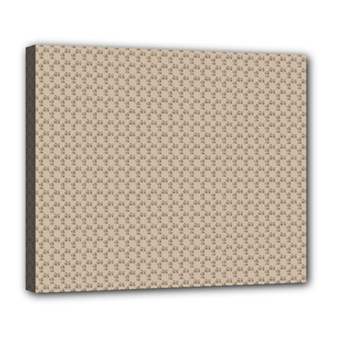 Pattern Ornament Brown Background Deluxe Canvas 24  x 20