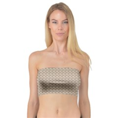Pattern Ornament Brown Background Bandeau Top