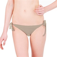 Pattern Ornament Brown Background Bikini Bottom