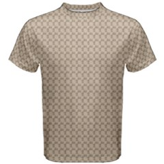 Pattern Ornament Brown Background Men s Cotton Tee
