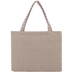 Pattern Ornament Brown Background Mini Tote Bag