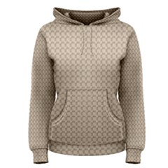 Pattern Ornament Brown Background Women s Pullover Hoodie