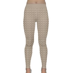 Pattern Ornament Brown Background Classic Yoga Leggings