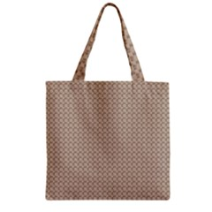 Pattern Ornament Brown Background Zipper Grocery Tote Bag