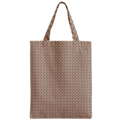 Pattern Ornament Brown Background Zipper Classic Tote Bag