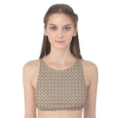 Pattern Ornament Brown Background Tank Bikini Top