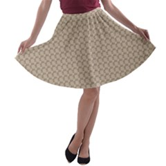 Pattern Ornament Brown Background A-line Skater Skirt