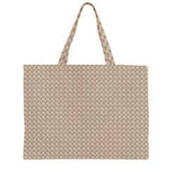 Pattern Ornament Brown Background Large Tote Bag
