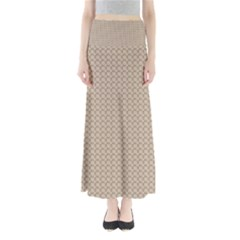 Pattern Ornament Brown Background Maxi Skirts
