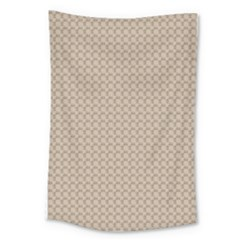 Pattern Ornament Brown Background Large Tapestry