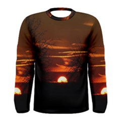 Sunset Sun Fireball Setting Sun Men s Long Sleeve Tee