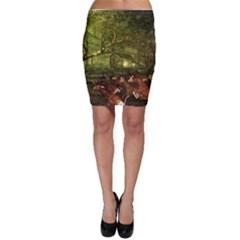 Red Deer Deer Roe Deer Antler Bodycon Skirt