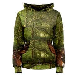 Red Deer Deer Roe Deer Antler Women s Pullover Hoodie
