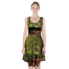 Red Deer Deer Roe Deer Antler Racerback Midi Dress