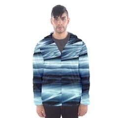 Texture Fractal Frax Hd Mathematics Hooded Wind Breaker (Men)