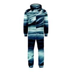 Texture Fractal Frax Hd Mathematics Hooded Jumpsuit (Kids)