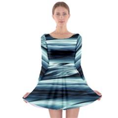 Texture Fractal Frax Hd Mathematics Long Sleeve Skater Dress