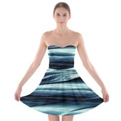 Texture Fractal Frax Hd Mathematics Strapless Bra Top Dress