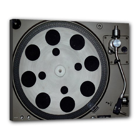 Turntable Record System Tones Canvas 20  X 16