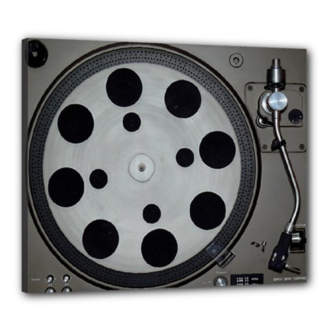 Turntable Record System Tones Canvas 24  X 20