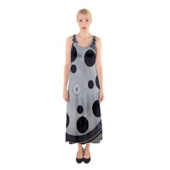 Turntable Record System Tones Sleeveless Maxi Dress