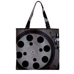 Turntable Record System Tones Zipper Grocery Tote Bag