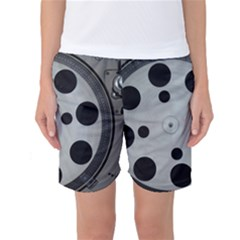 Turntable Record System Tones Women s Basketball Shorts