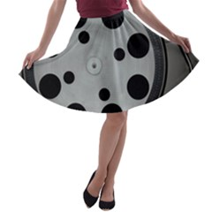 Turntable Record System Tones A Line Skater Skirt