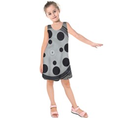 Turntable Record System Tones Kids  Sleeveless Dress