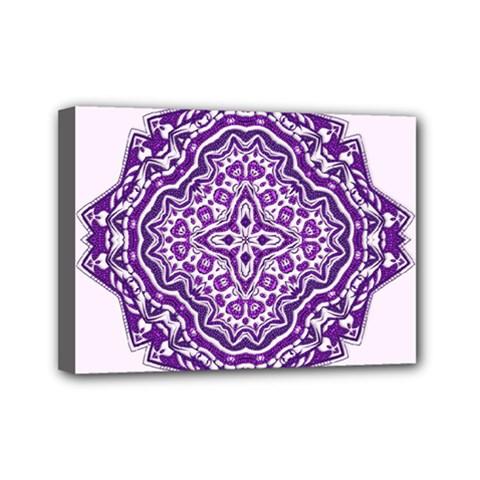 Mandala Purple Mandalas Balance Mini Canvas 7  x 5
