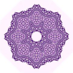 Mandala Purple Mandalas Balance Folding Umbrellas