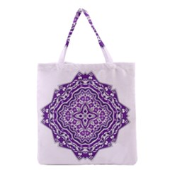 Mandala Purple Mandalas Balance Grocery Tote Bag