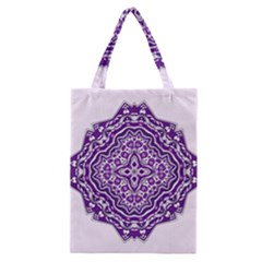Mandala Purple Mandalas Balance Classic Tote Bag