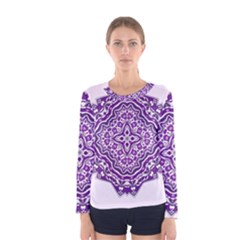 Mandala Purple Mandalas Balance Women s Long Sleeve Tee