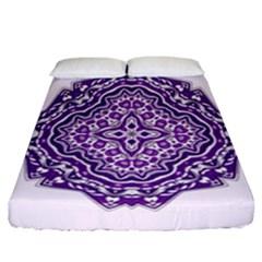 Mandala Purple Mandalas Balance Fitted Sheet (california King Size)