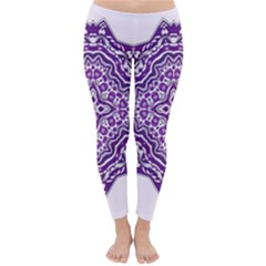 Mandala Purple Mandalas Balance Classic Winter Leggings