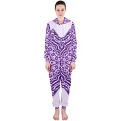 Mandala Purple Mandalas Balance Hooded Jumpsuit (Ladies)