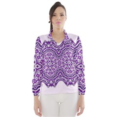 Mandala Purple Mandalas Balance Wind Breaker (women)