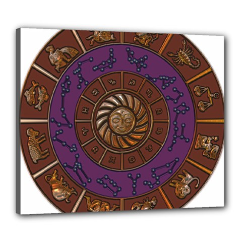 Zodiak Zodiac Sign Metallizer Art Canvas 24  x 20
