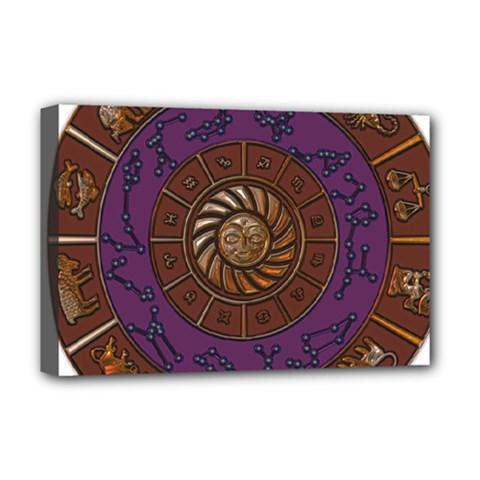 Zodiak Zodiac Sign Metallizer Art Deluxe Canvas 18  x 12
