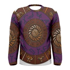 Zodiak Zodiac Sign Metallizer Art Men s Long Sleeve Tee