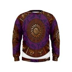 Zodiak Zodiac Sign Metallizer Art Kids  Sweatshirt