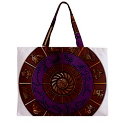 Zodiak Zodiac Sign Metallizer Art Zipper Mini Tote Bag