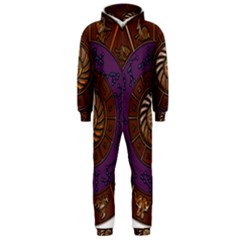 Zodiak Zodiac Sign Metallizer Art Hooded Jumpsuit (Men)