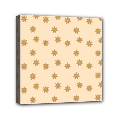 Pattern Gingerbread Star Mini Canvas 6  x 6