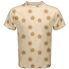 Pattern Gingerbread Star Men s Cotton Tee